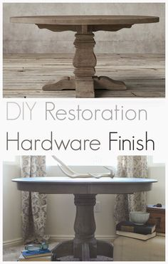 diy-restoration-hardware-finish-with-Weatherwood-Stains diy. diy-restoration-hardware-finish-with-Weatherwood-Stains diy-restoration-hardware-finish-with-Weatherwood-Stains Restoration Hardware Table, Furniture Restoration, Home Decor Furniture, Diy Home Decor, Furniture Design, Painting Furniture, Diy Painting, Bedroom Furniture Makeover, Furniture Removal