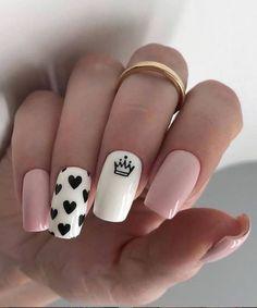 Square Nail Designs, Short Nail Designs, Cool Nail Designs, Acrylic Nail Designs, Stylish Nails, Trendy Nails, Cute Nails, Pink Nails, My Nails