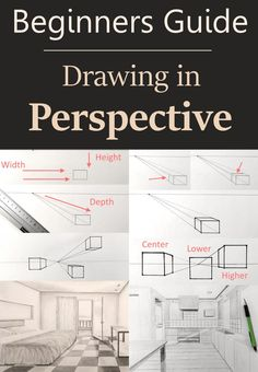 Drawing Tutorial - Perspective Beginners guide to drawing in linear and atmospheric perspective. Many drawings and sketches examples for interior, exterior and landscape drawing. Learn how to add characters to your drawings in a realistic way. Beginner Sketches, Drawing For Beginners, Drawing Tutorials, Drawing Techniques, Drawing Interior, Interior Design Sketches, Learn Interior Design, Interior Designing, Perspective Drawing Lessons