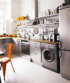 cool stainless steel kitchen