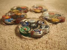 Bottle Cap Coasters - HOME SWEET HOME