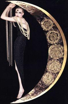 Moon. Pearls.