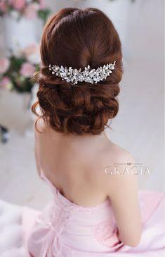 EIRENE Silver leaf wedding hair comb bridal leaf headpiece by TopGracia #topgraciawedding #bridalhairaccessories #weddingheadband