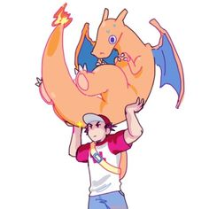"""""""ive a couple people saying pikachu is kinda light but lets be real red probably carries around all of his pokemon"""""""