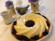 Manjar branco perfumado com água de rosas :: Pimenta na cozinha