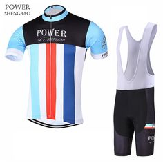 4fe8117da  Click Image to Buy  POWER SHENGBAO New Team Breathable Mountain Bicycle  Cycling Sets