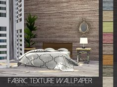 Fabric Texture Wallpaper in 8 color variations.  Found in TSR Category 'Sims 4 Walls'