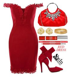 """Hot red dress"" by simona-altobelli ❤ liked on Polyvore featuring Effy Jewelry, Bold Elements, L'Oréal Paris, Lancôme, women's clothing, women, female, woman, misses and juniors"