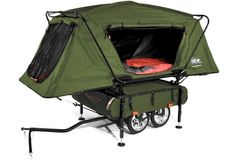 Pop-Up Camper you tow with your bike.