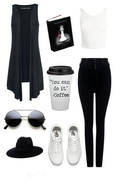 """BLACK AND WHITE"" by elisants on Polyvore featuring Citizens of Humanity, Sans Souci and Vans"