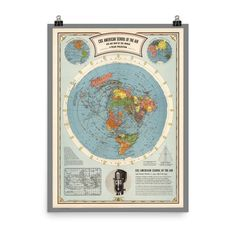 Air Map of the World - Premium Luster Photo Paper Poster