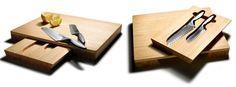 Pinzon Santoku Knives and Bamboo Cutting Board
