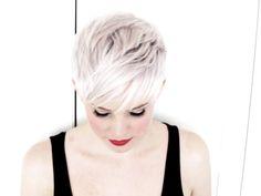 Hair and photography: Jennifer Kelly  Makeup: Vivian Bui   Pastel blonde, short hair