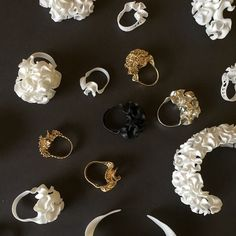"""""""Floraform prototypes #3dprinted in nylon, silver and brass"""""""
