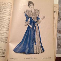 Watteau tea-gown. The Delineator, November 1897.