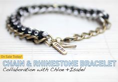 DIY Chain and Rhinestone necklace