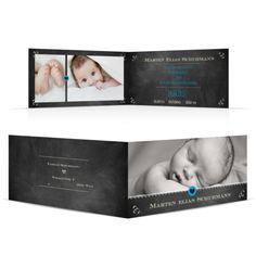 Geburtskarte Schiefertafel