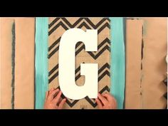 Burlap DIY: How to Create Easy Wall Art Using Burlap (+lista de reproduc...
