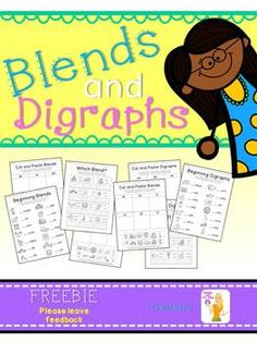 Blends and Digraphs {{Freebie}} Subjects: English Language Arts, Other (ELA), Phonics Grade Levels: Kindergarten, 1st Resource Types: Worksheets, Printables, Literacy Center Ideas