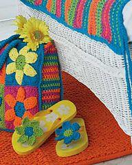 Ravelry: Flip Flop Flowers pattern by Bernat Design Studio.. Free pattern!