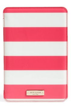 Free shipping and returns on kate spade new york 'jane stripe' iPad mini case at Nordstrom.com. Megawatt stripes dart across a structured case designed to protect and display your iPad mini—while a pristine logo plate adds a touch of signature polis