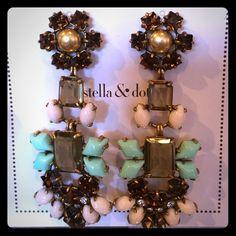 Capri chandeliers | Coral orange and Chandelier earrings
