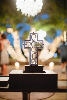 Unity cross displayed at the reception!