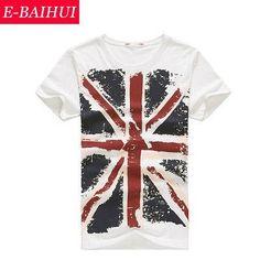 E-BAIHUI Brand Cotton men Clothing Male Slim Fit t shirt Man T-shirts Casual T-Shirts Skateboard