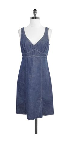 Nanette Lepore Blue Chambray Cotton Dress