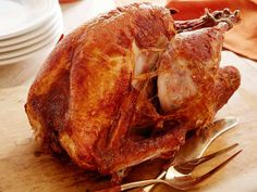 """Deep-Fried Turkey from FoodNetwork.com  This year, I am following Alton Brown's deep fried turkey recipe, which requires brining the turkey.  I have heard from so many people that brining a turkey has made it """"the best turkey I have EVER eaten.""""  This will be the first time I have brined and deep fried a turkey.  I am looking for an awesome-tasting, moist turkey this year!"""