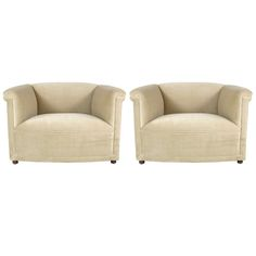 Pair of Club Chairs by Ward Bennett for Brickel | From a unique collection of antique and modern club chairs at http://www.1stdibs.com/furniture/seating/club-chairs/