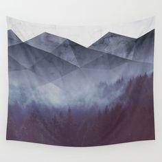Kess InHouse Cafelab Spring Shadows Purple Pastel 23 x 23 Square Floor Pillow