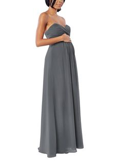 11b5e39386016 Brideside Kelly Maternity Bridesmaid Dress Maternity Bridesmaid Dresses,  Strapless Dress, Strapless Gown, Pregnancy
