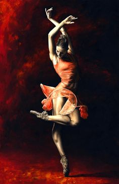 The Passion Of Dance by Richard Young   Painting - Oil On Stretched Canvas   with Pin-It-Button on FineArtAmerica