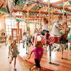 """Midwest Living """"Small Town Getaways on the Great Lakes: St. Joseph, Michigan"""" (Silver Beach Carousel)"""
