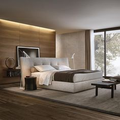 322 отметок «Нравится», 1 комментариев — Poliform|Varenna (@poliform_official) в Instagram: «Rever bed, a simple and linear geometry mellowed by soft lines and contrasting textile surfaces…»