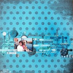 layout by Tusia Lech for Scrap Around The World DT with 7 Dots Studio collections