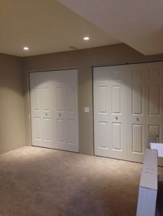 Hanging doors and Trimming out Textured Ceiling, Ceiling Texture, Drywall, Garage Doors, Outdoor Decor, Home Decor, Homemade Home Decor, Decoration Home, Carriage Doors