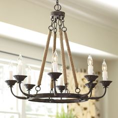 Laurenza 8 Light Chandelier love this from Ballard Designs