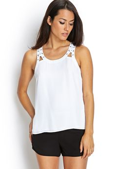 Grommet Woven Tank Top | FOREVER21 #F21Contemporary