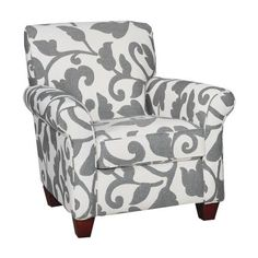 Onyx Floral Upholstered Accent Chair - not sure that I love this exact pattern but I like the idea of a patterned arm chair for the corner of the living room