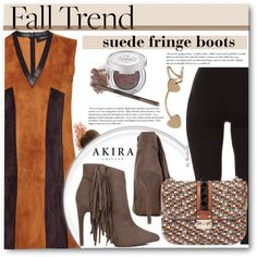 How To Wear Fall Trend - Suede Fringe Boots Outfit Idea 2017 - Fashion Trends Ready To Wear For Plus Size, Curvy Women Over 20, 30, 40, 50