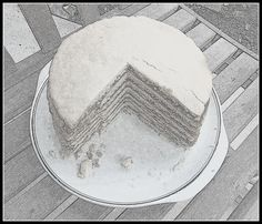 Stack Cake is a simple multi-layered cake filled with flavorful apple butter. The cake layers are thin and crisp like a cookie when the cake is assembled. The