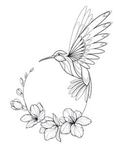 Flower Sketches, Art Drawings Sketches Simple, Bird Drawings, Pencil Art Drawings, Tattoo Drawings, Cute Drawings, Mini Tattoos, Cute Tattoos, Small Tattoos