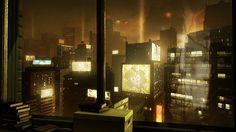 Deus Ex [( Science-fiction, dystopia, future noir, Blade Runner, cyberpunk, night skylines, dark city, Metropolis )]