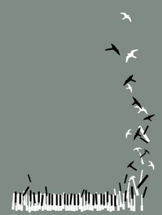 Maybe this idea but not so crooked or so many? ... turning into birds or music notes is a neat idea.