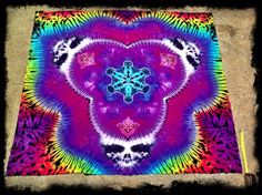 Grateful Dead Tie Dye Tapestry Syf by GratefullyDyedDamen on Etsy, $145.00