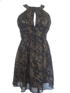 NINE WEST Glam Rocks Looped Cocktail Dress-BLACK/GOLD-12P « Dress Adds Everyday