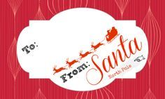Official Letterhead and Gifts Tags from Santa Claus (Free Printables)