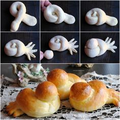 colombine di brioche - See Pic Fancy Bread Roll Shapes Quick Video Instructions Source by You are guaranteed to love these Fancy Bread Roll Shapes and we have a quick video to show you how to whip up 10 of the best Bakery techniques that you will love. Art Du Pain, Bread Recipes, Cooking Recipes, Cooking Corn, Budget Recipes, Bread Art, Bread Food, Bread Shaping, Best Bakery